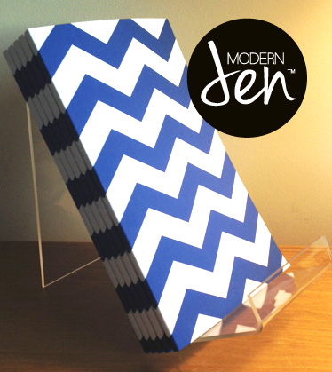 ModernJen journals: chevron, dots, geo, college style