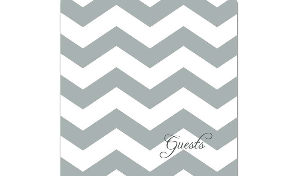Gray Chevron Guest Book